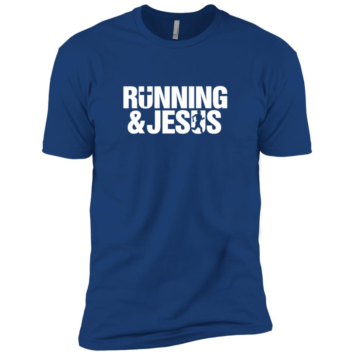 Running & Jesus-1 Men Short Sleeve T-Shirt