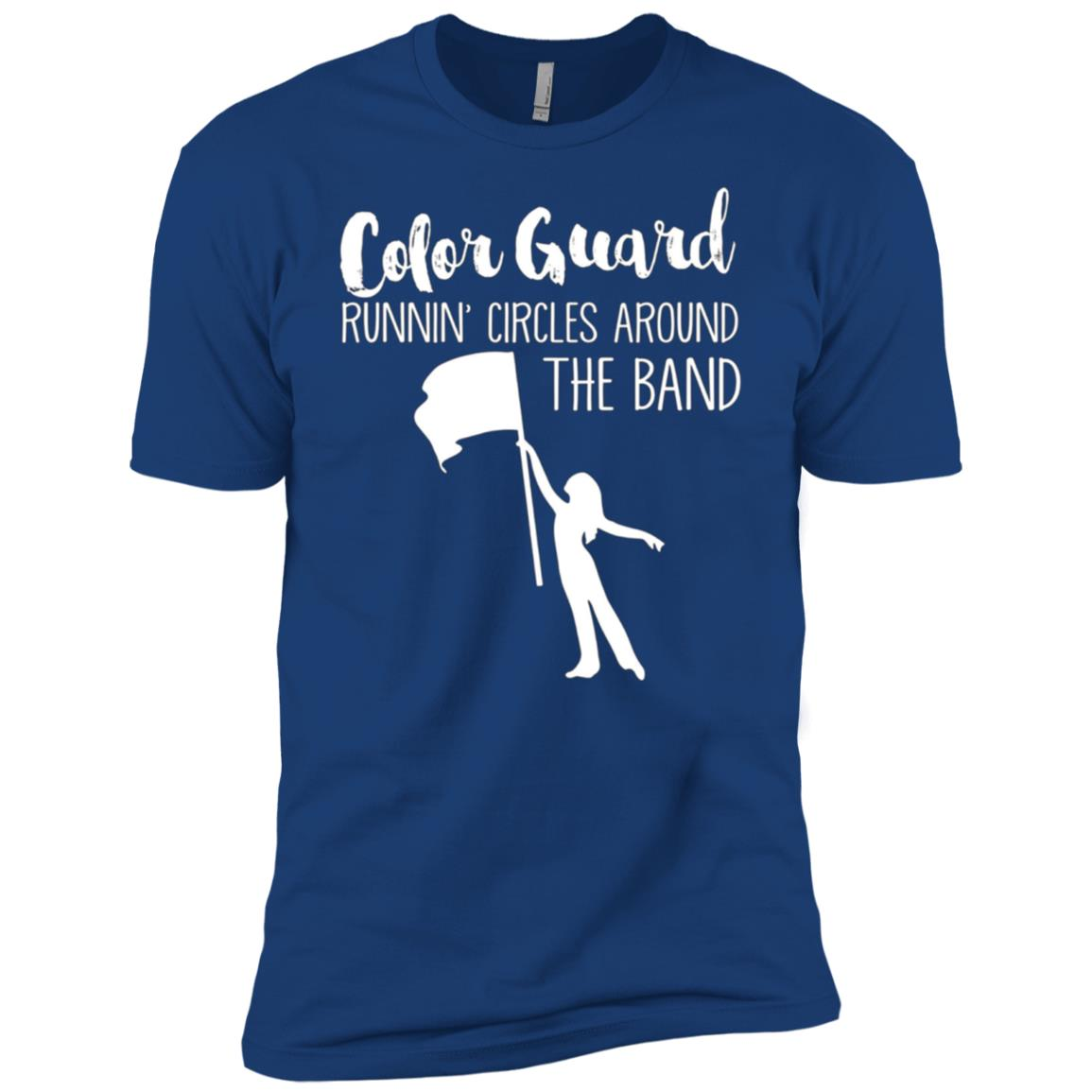 COLOR GUARD RUNNING AROUND BAND, Funny ColorGuard Men Short Sleeve T-Shirt