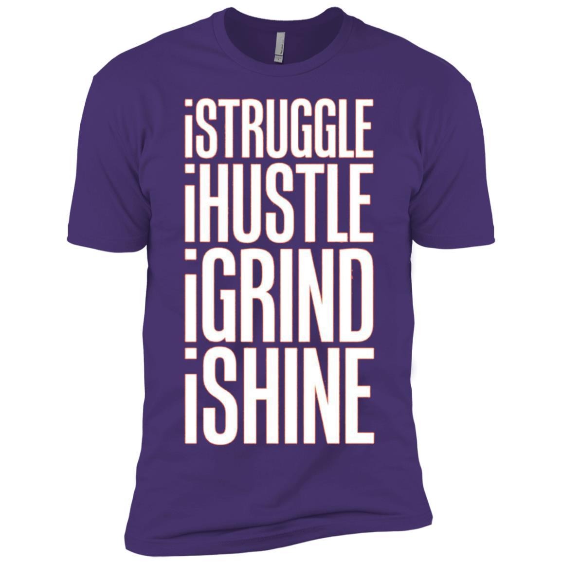 Struggle Hustle Grind Shine Hard Work Men Short Sleeve T-Shirt