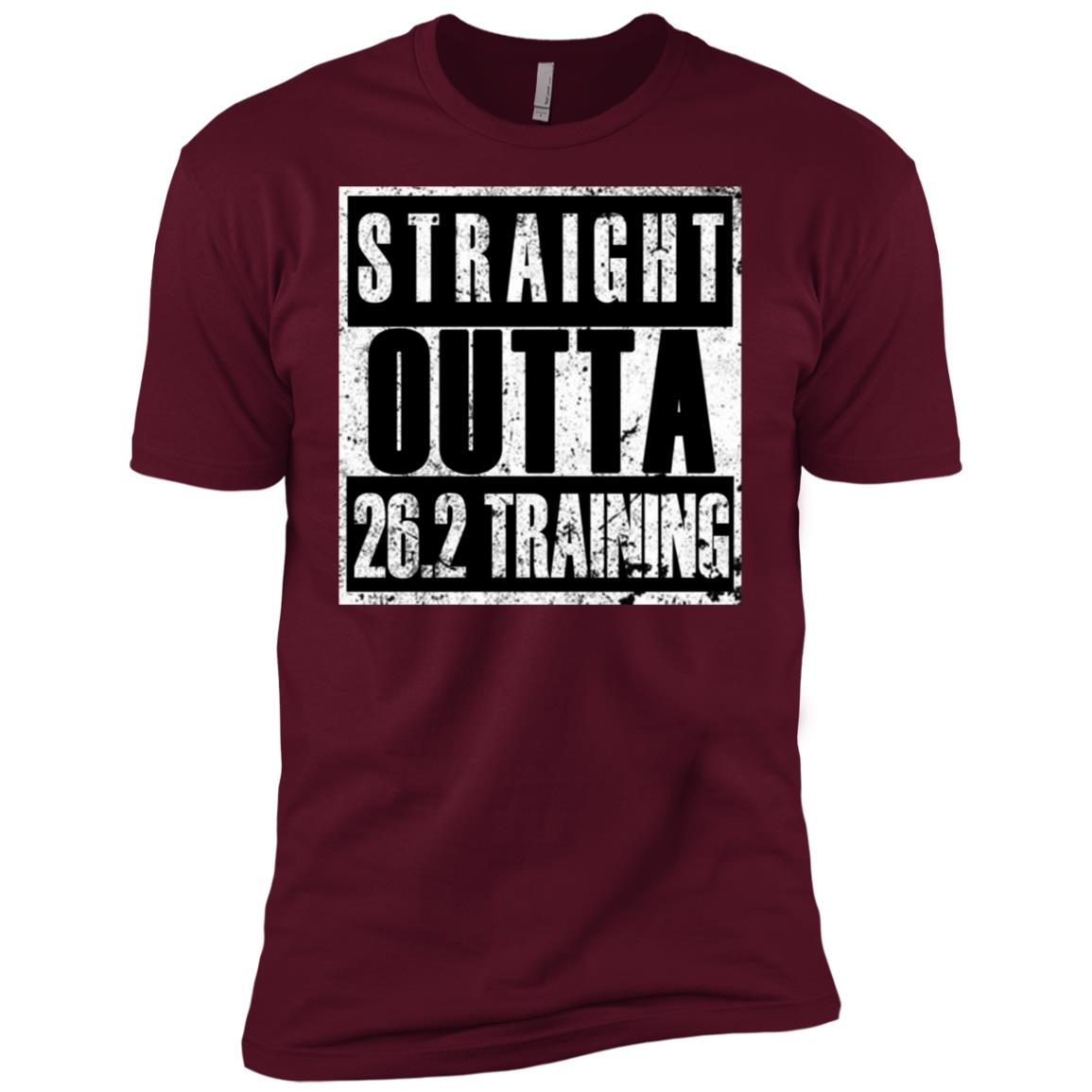 Straight Outta Training Funny Tee For 26.2 Runners Men Short Sleeve T-Shirt