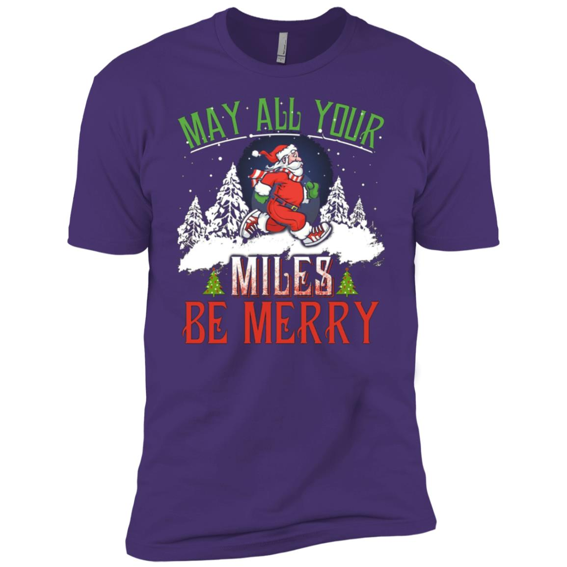 Christmas Running Womens Funny Running Gift Men Short Sleeve T-Shirt