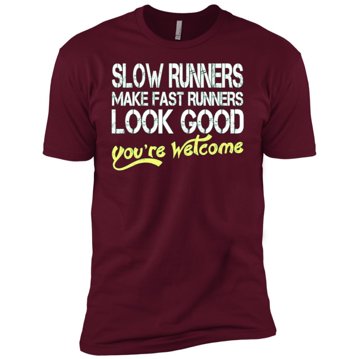 Slow Runners Make Fast Runners Look Good Men Short Sleeve T-Shirt