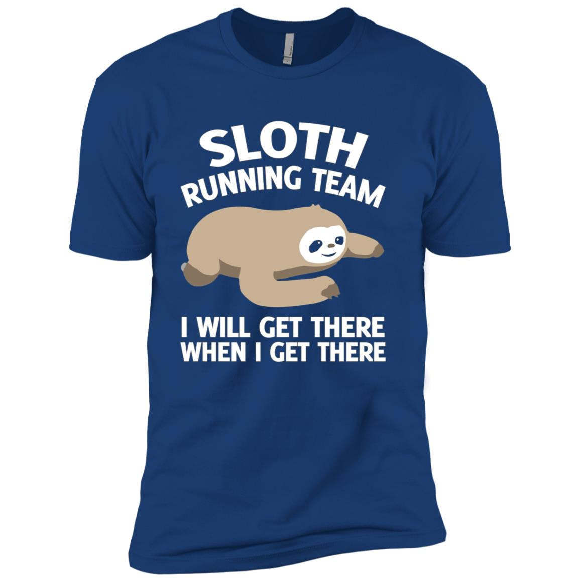 Sloth running team I will get there when i get there Men Short Sleeve T-Shirt