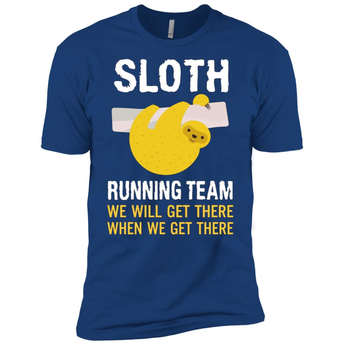 Sloth Running Team We Will Get There When We Get There Men Short Sleeve T-Shirt