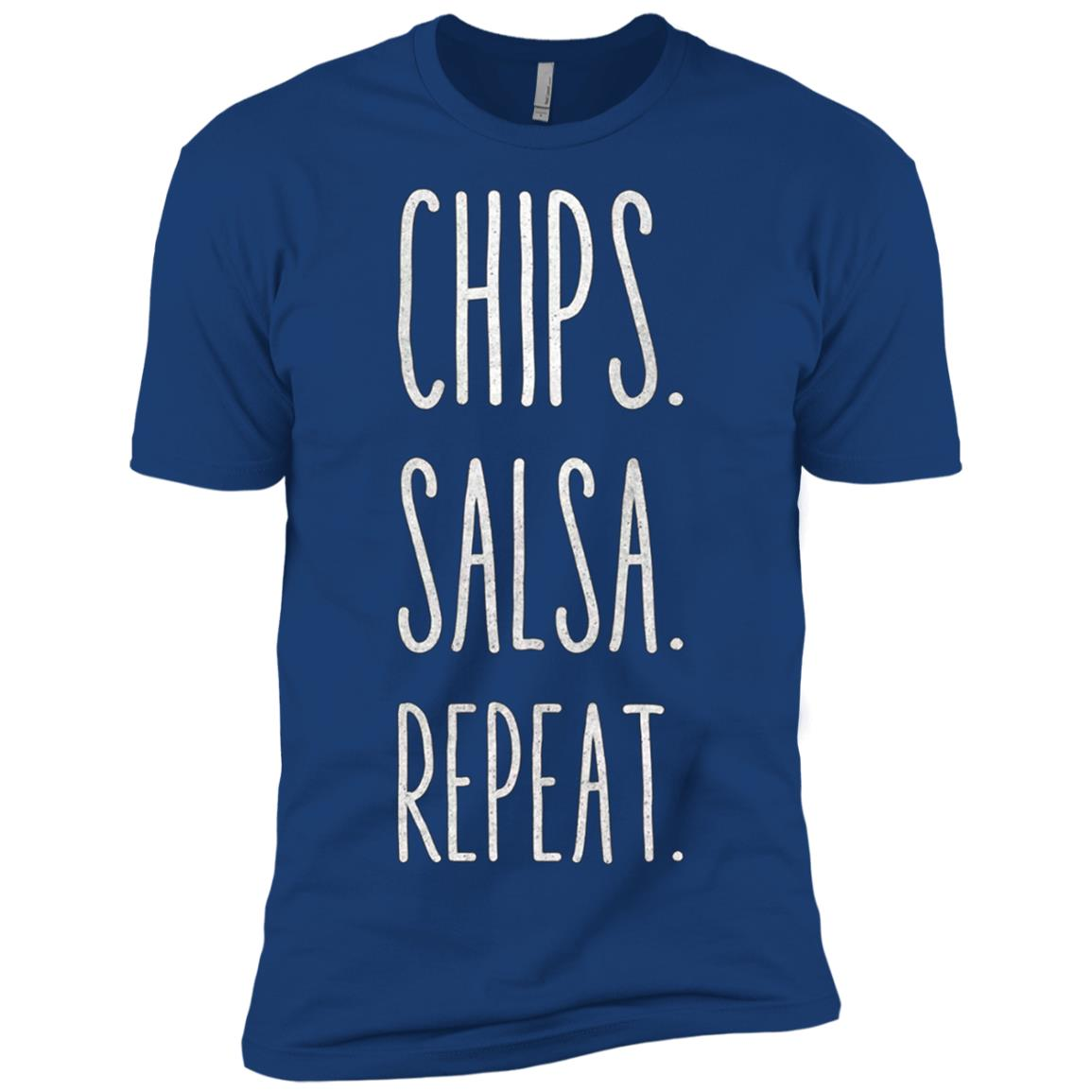 Chips. Salsa. Repeat. Funny Men Short Sleeve T-Shirt