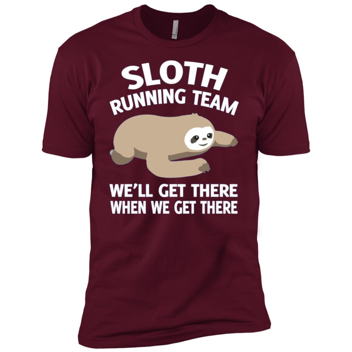 Sloth running team I will get there Men Short Sleeve T-Shirt