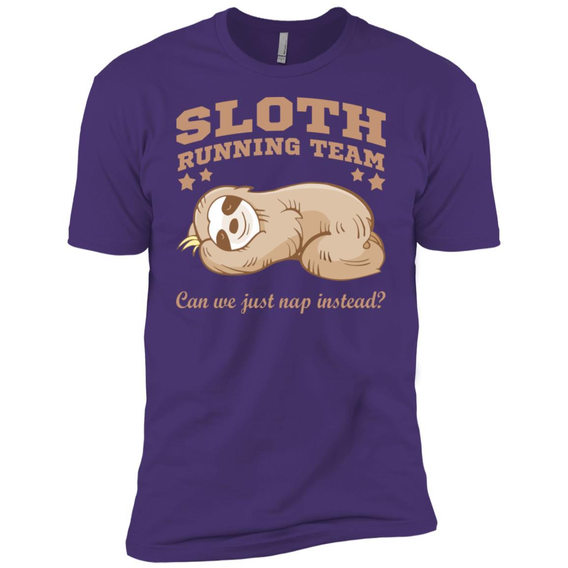 Sloth Running Team Can We Just Nap Instead Men Short Sleeve T-Shirt