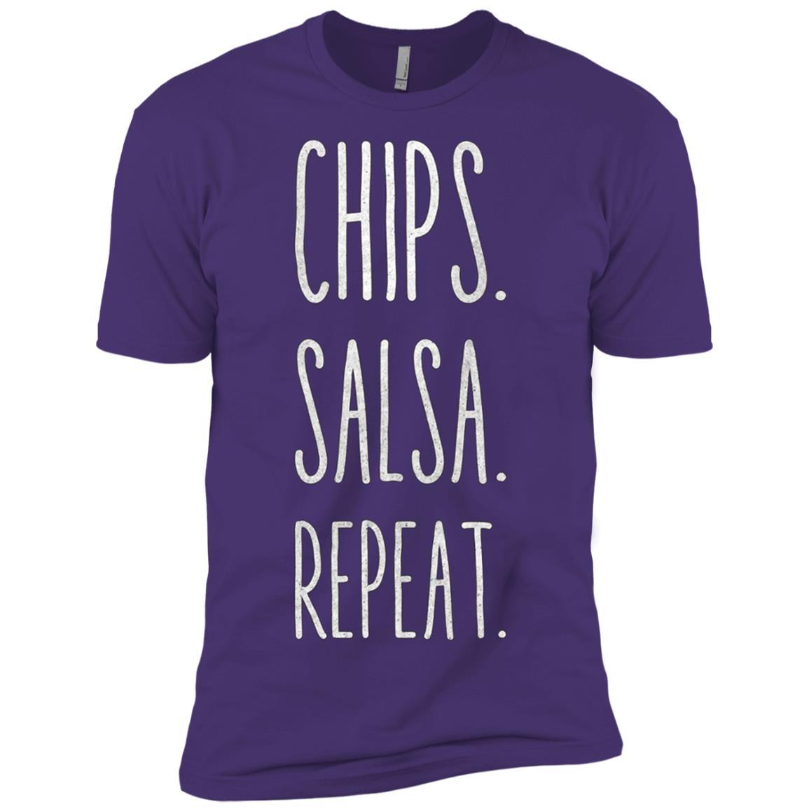 Chips. Salsa. Repeat. Funny Men Short Sleeve T-Shirt