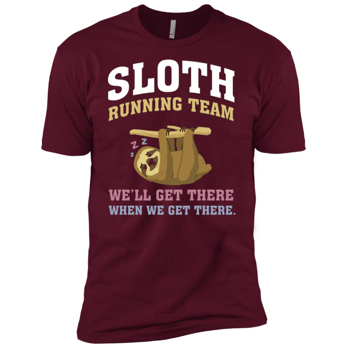 SLOTH – Running Team -we'll get there when we get there Men Short Sleeve T-Shirt