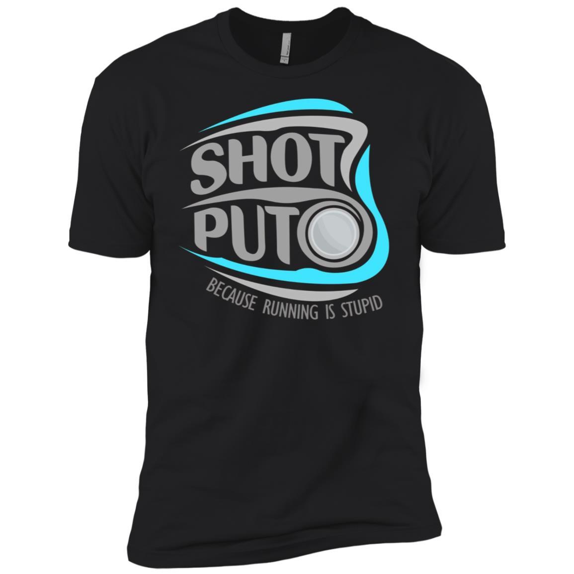 Shot Put vs. Runners, Track Men Short Sleeve T-Shirt