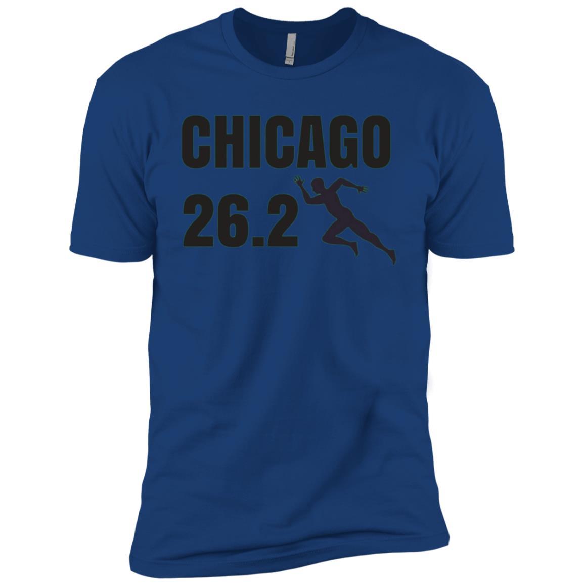 Chicago 26.2 Miles Marathon Running Men Short Sleeve T-Shirt