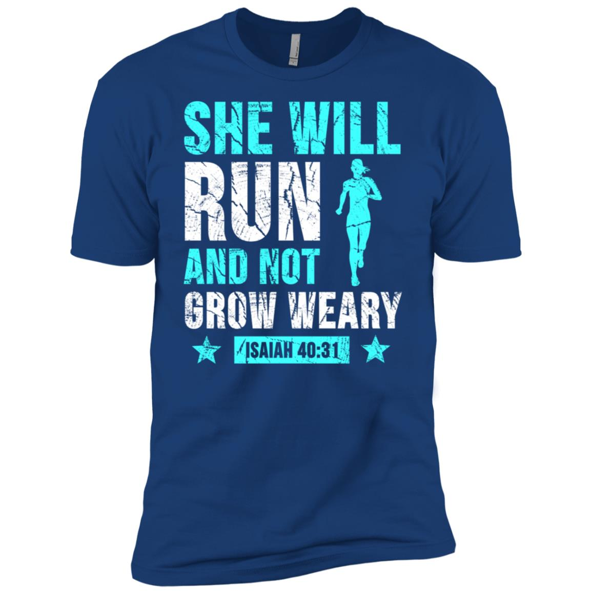 She Will Run And Not Grow Weary Isaiah 4031 Men Short Sleeve T-Shirt