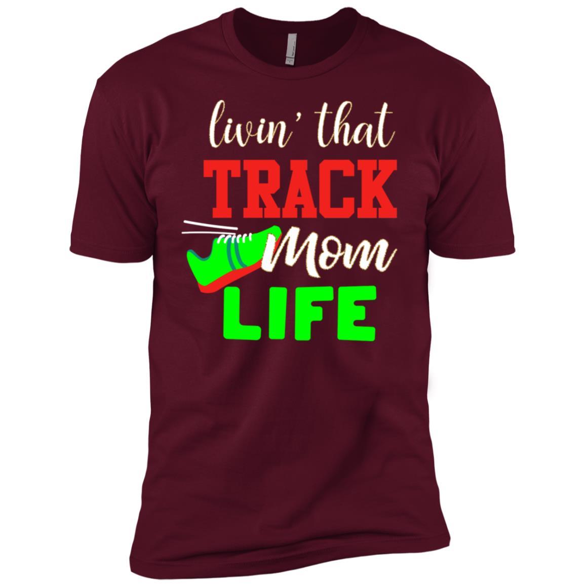 Track Mom Proud Family School Team Support Men Short Sleeve T-Shirt