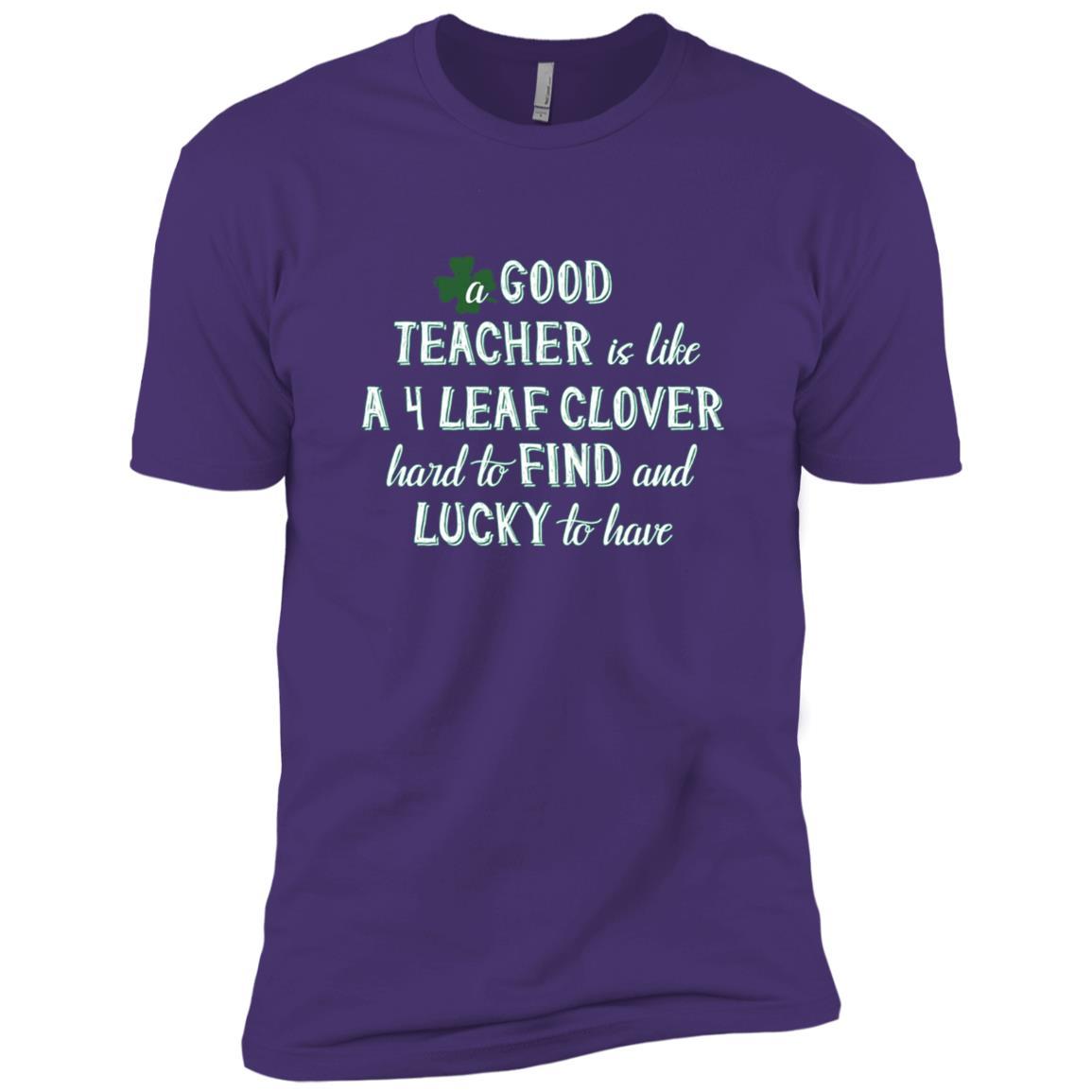Teacher Student Gifts St. Patrick Lucky Clover Funny Men Short Sleeve T-Shirt