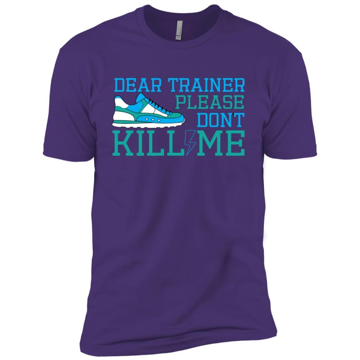 Trainer Please Don't Kill Me Running Men Short Sleeve T-Shirt