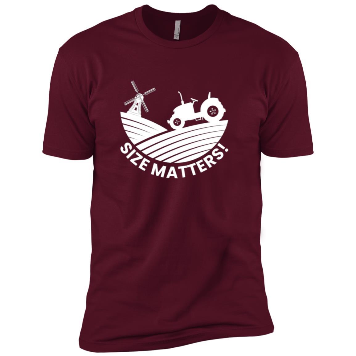 Tractor Size Matters Big Wheels Windmill Funny Gift Men Short Sleeve T-Shirt