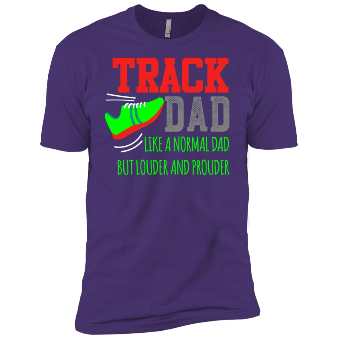 Track Dad Proud Family School Team Support Men Short Sleeve T-Shirt