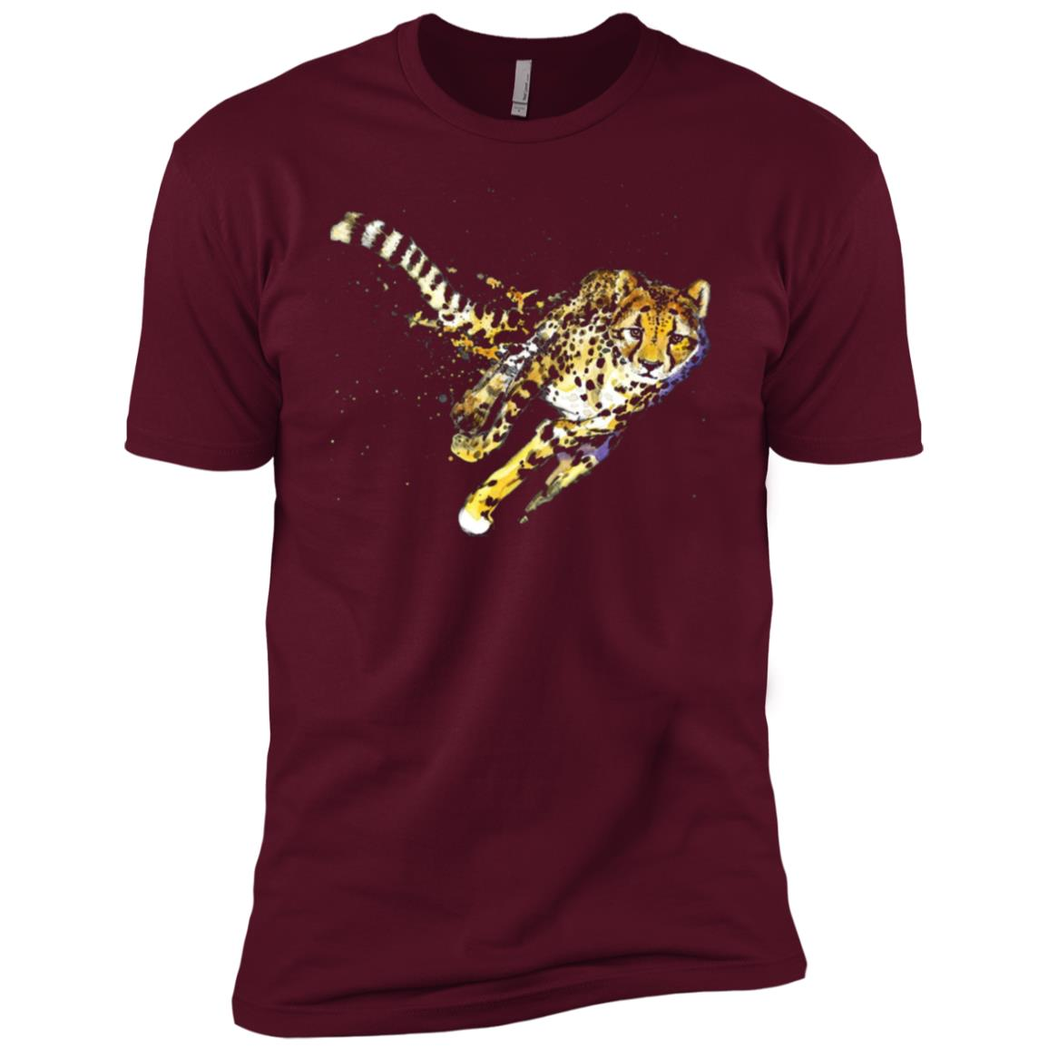 Cheetah Cool Design Running Cheetah Gift Tee Men Short Sleeve T-Shirt