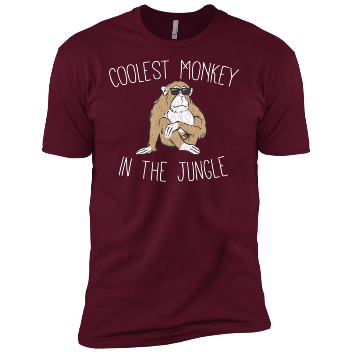 The Coolest Monkey in the Jungle Funny Tee Men Short Sleeve T-Shirt