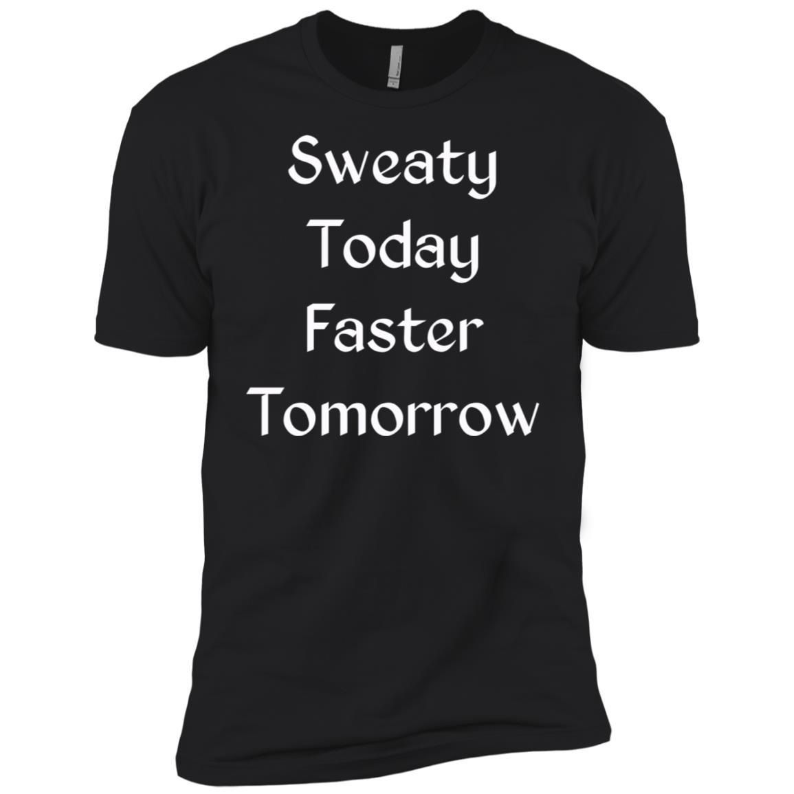 Sweaty Today Faster Tomorrow Running Men Short Sleeve T-Shirt