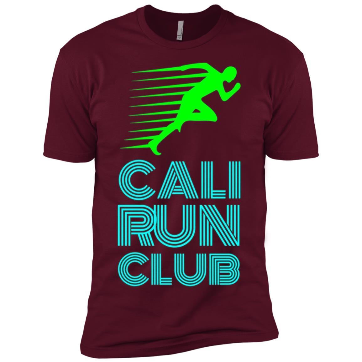 Cali Run Club Stylish Neon Running Men Short Sleeve T-Shirt