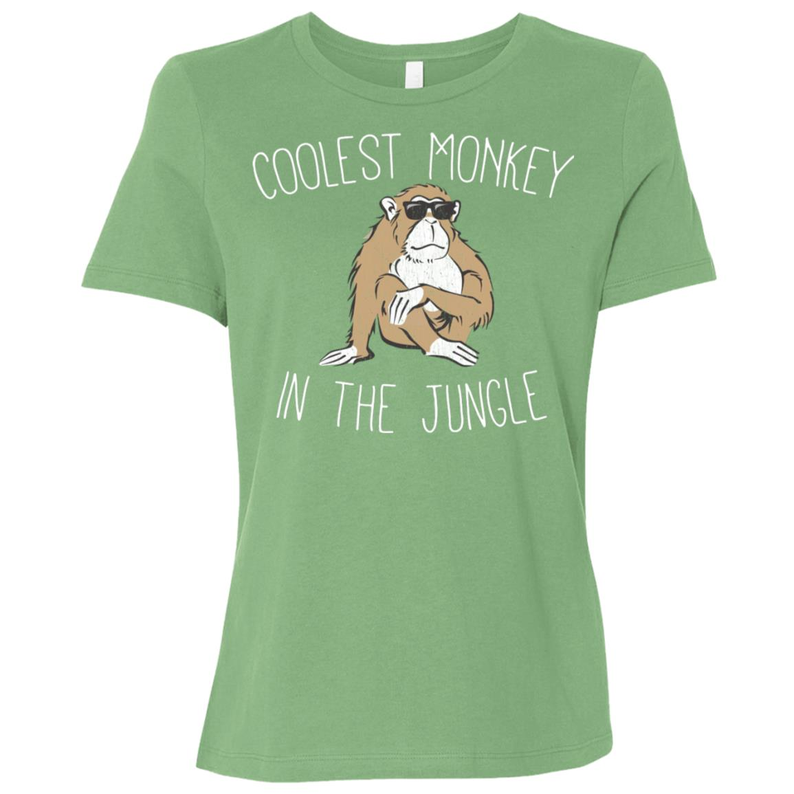 The Coolest Monkey in the Jungle Funny Tee Women Short Sleeve T-Shirt