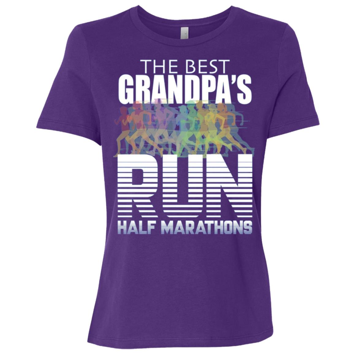 The Best Grandpas Run Half Marathons – Women Short Sleeve T-Shirt