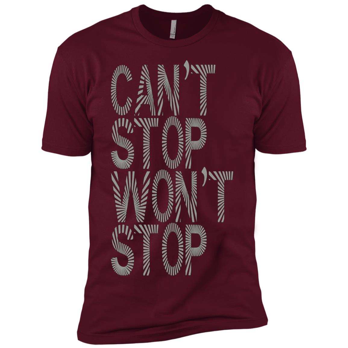 Womens Fitness – Can't Stop Won't Stop Men Short Sleeve T-Shirt