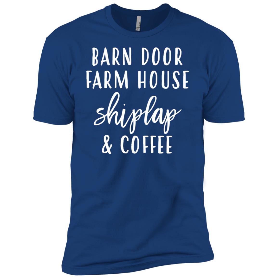 Womens Barn Door, Farmhouse, Shiplap & Coffee Men Short Sleeve T-Shirt