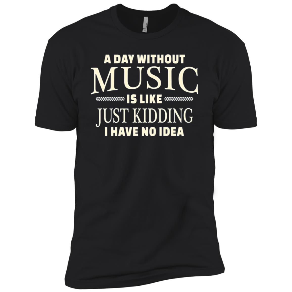 Without Music Funny Music Lover Tee Teen Girls Boys Men Short Sleeve T-Shirt