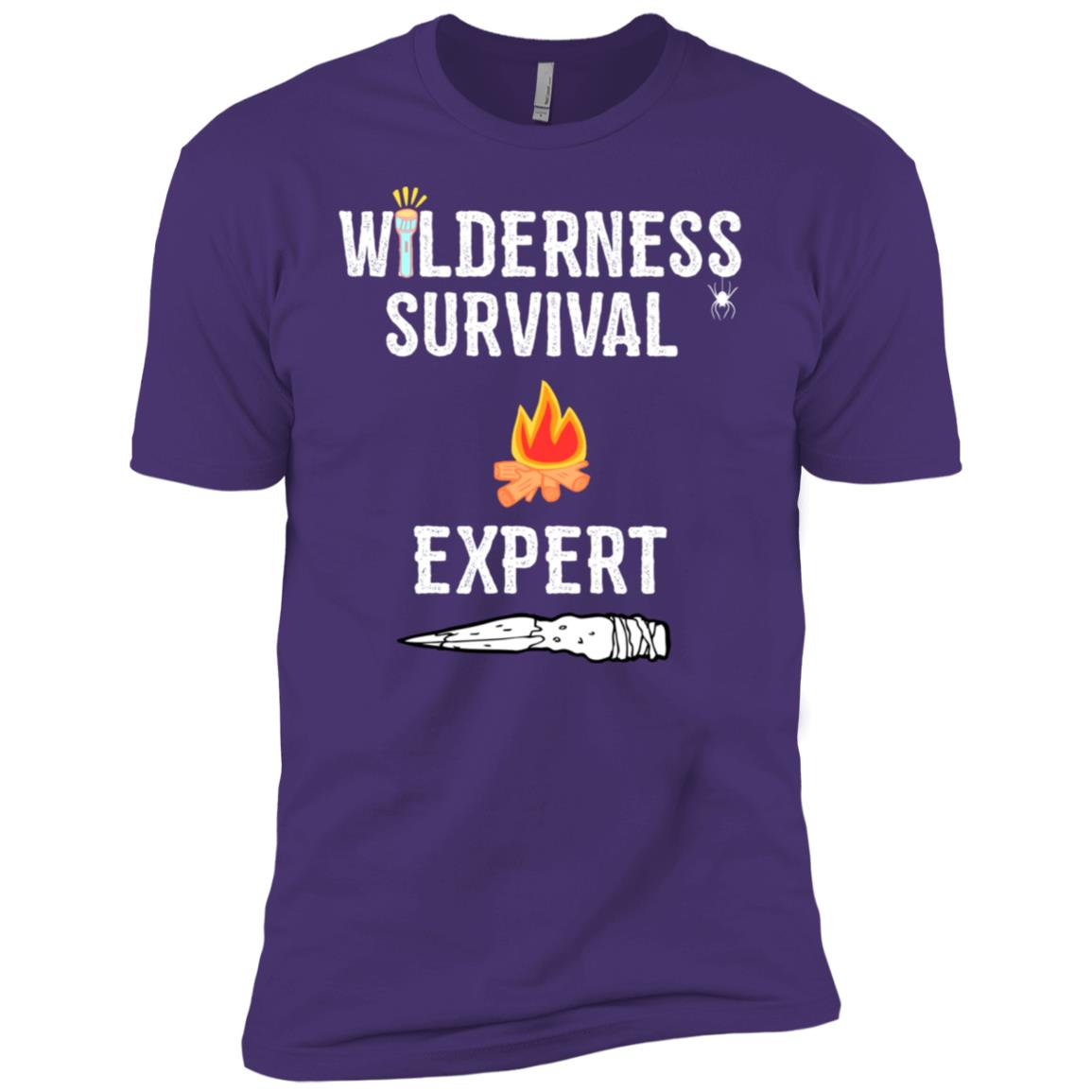 Wild Wilderness Survival Expert Outdoors Men Short Sleeve T-Shirt