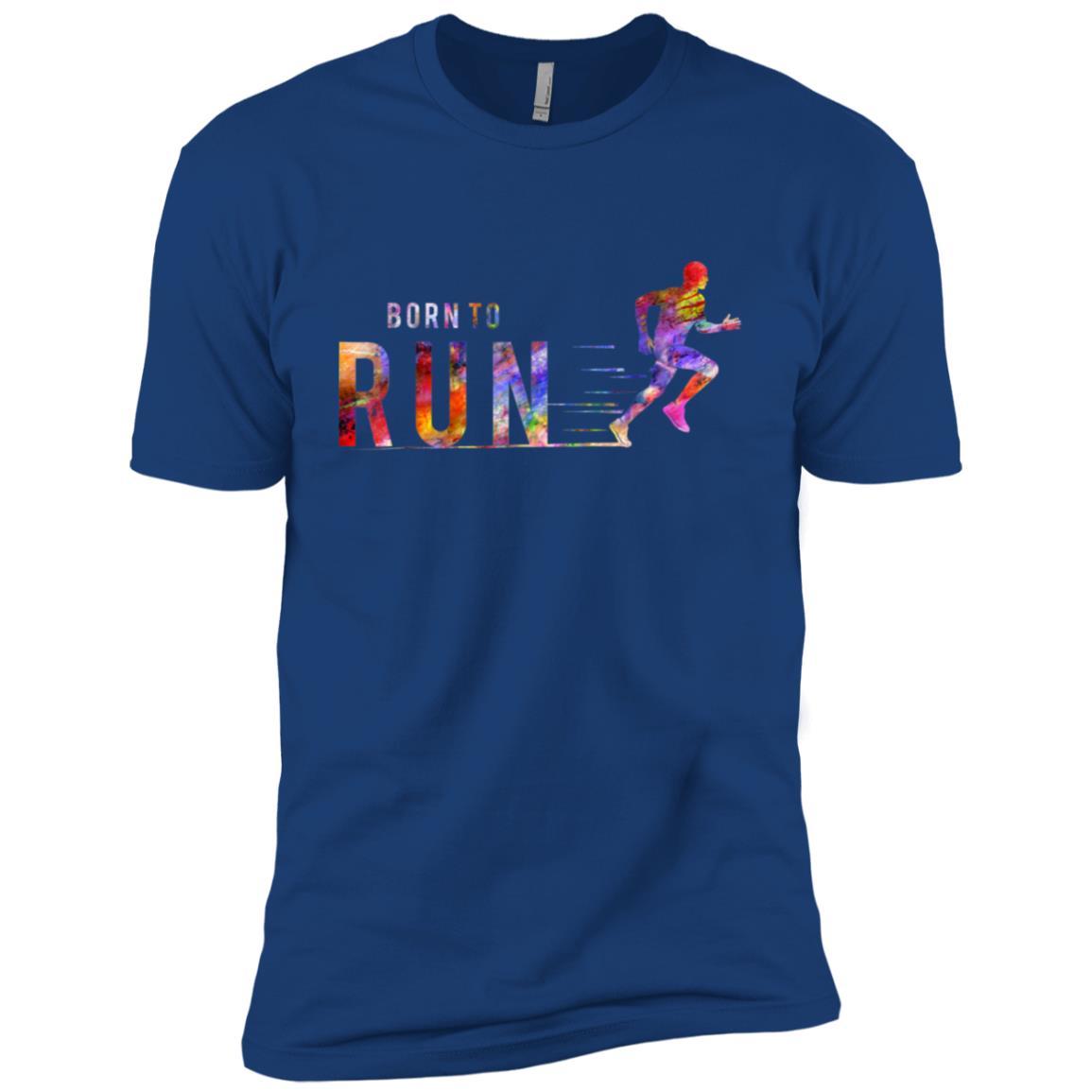 Born to Run Marathon Run Sports Colorful Men Short Sleeve T-Shirt