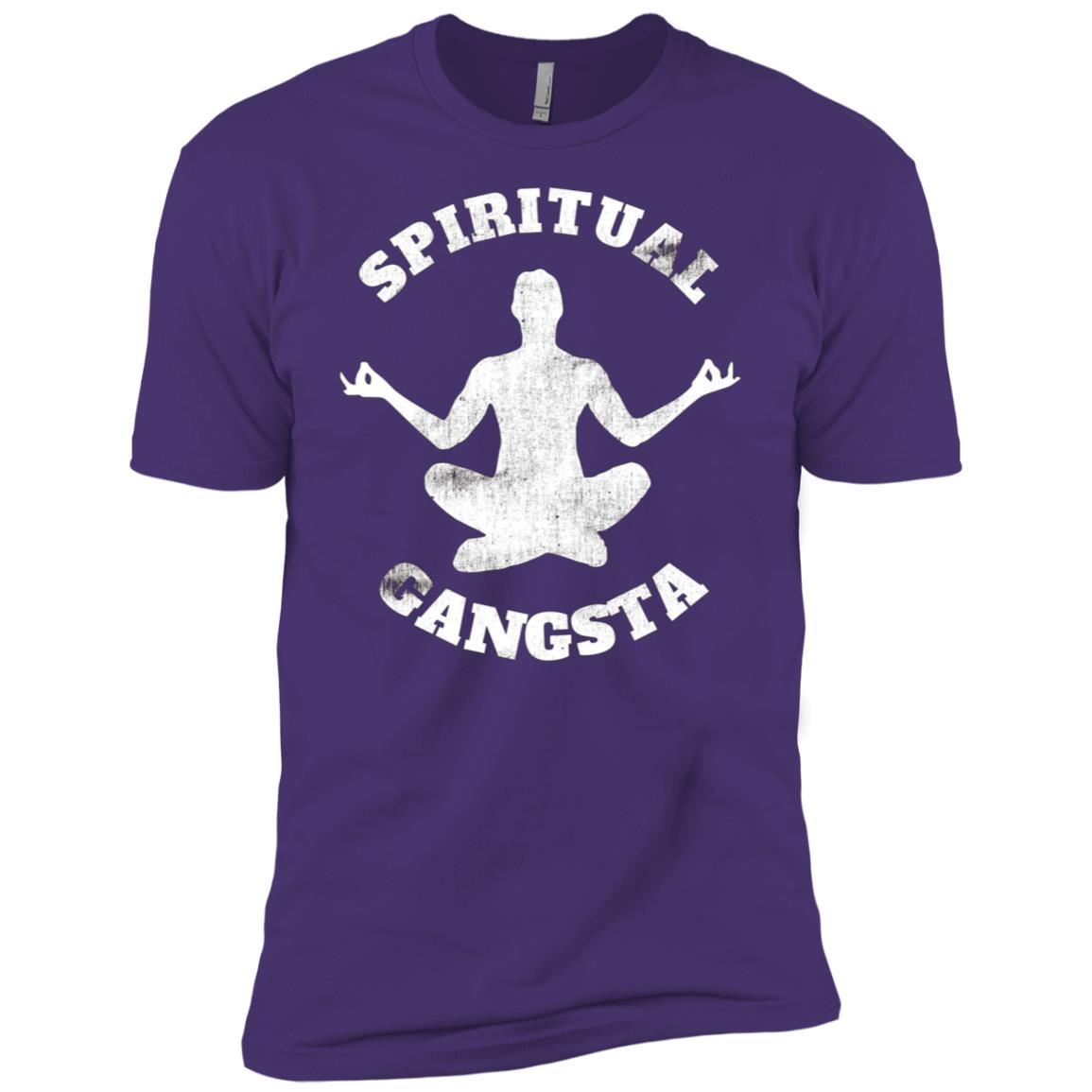 Yoga Christmas Gift Idea Yoga Spiritual Gangsta Men Short Sleeve T-Shirt