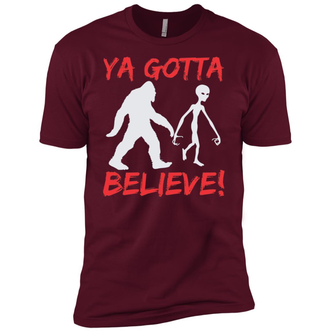Alien Bigfoot Ya Gotta Believe Men Short Sleeve T-Shirt