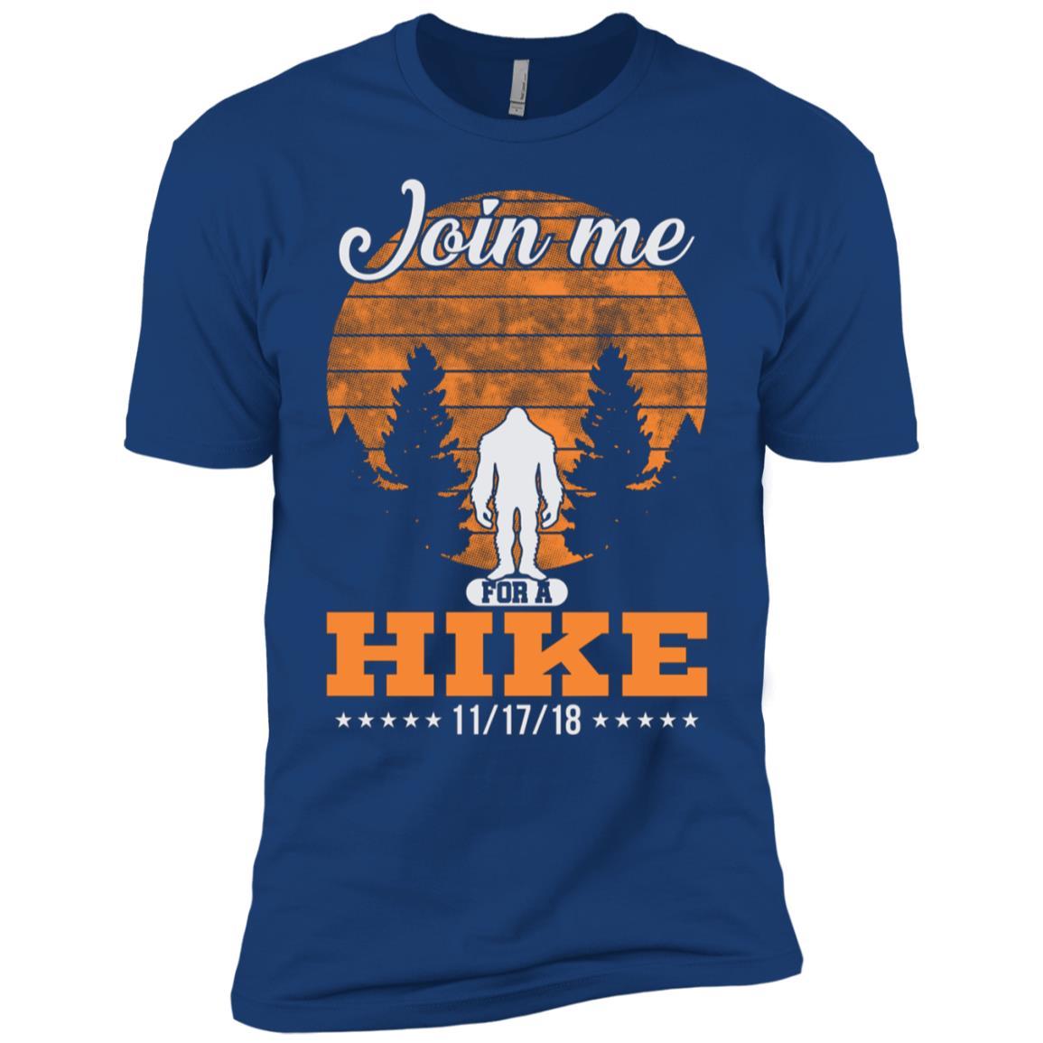 Alien Bigfoot Join Me for a Hike 111718 LS Men Short Sleeve T-Shirt