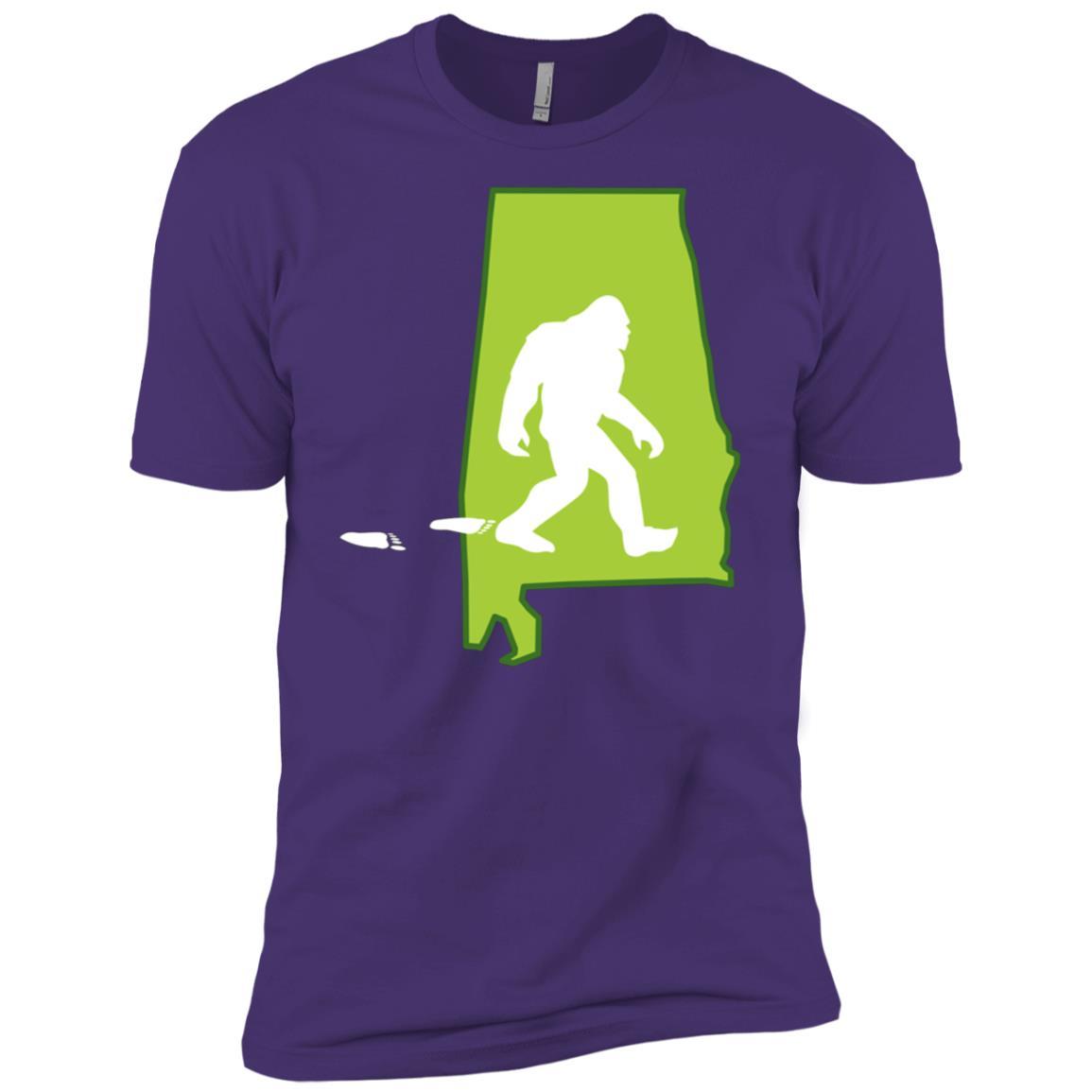 Alabama State Bigfoot Hunter Men Short Sleeve T-Shirt