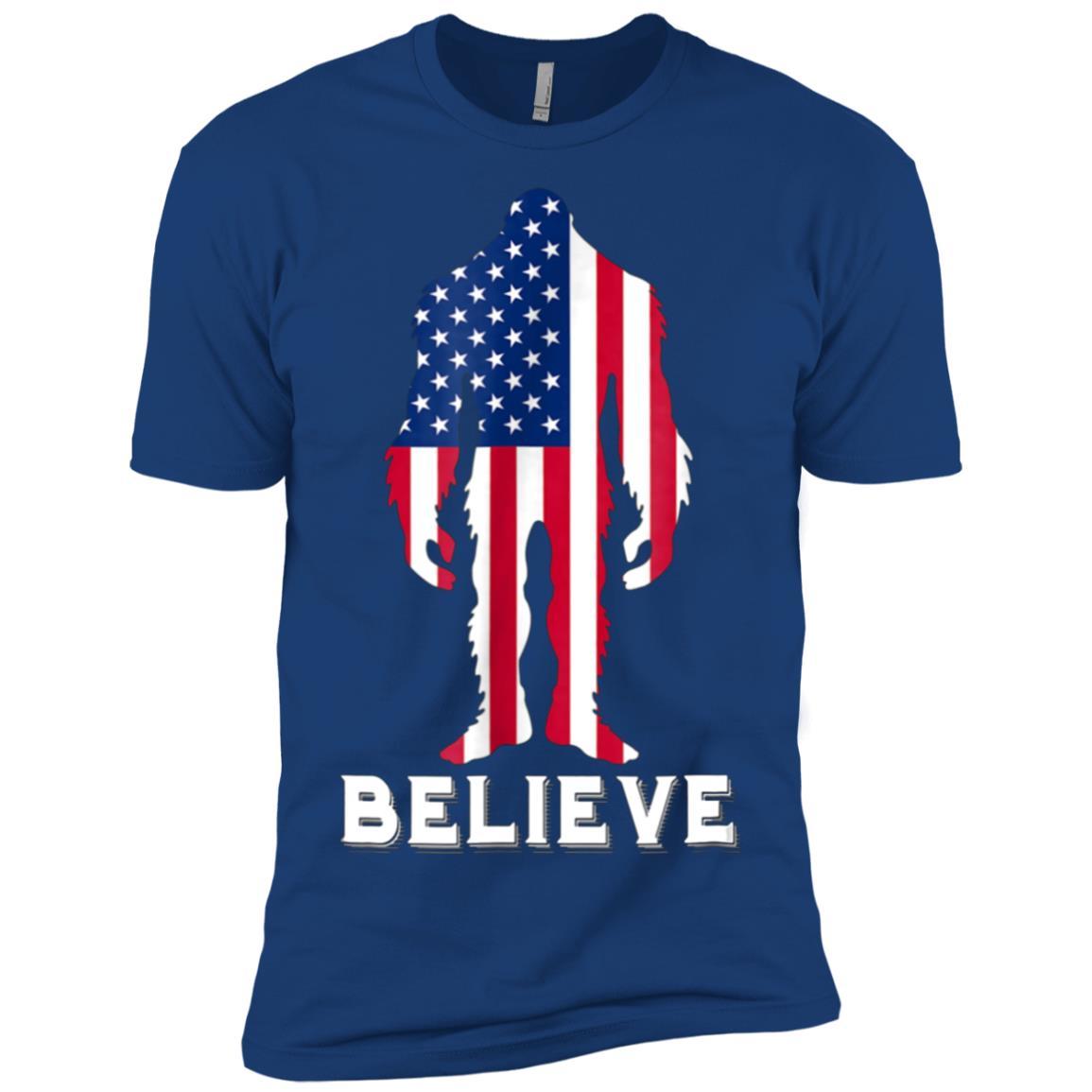 4th Of July Clothes Bigfoot Believe Patriotic Men Short Sleeve T-Shirt