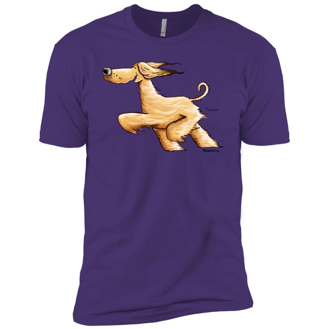 Awesome Running Afghan Hound Men Short Sleeve T-Shirt