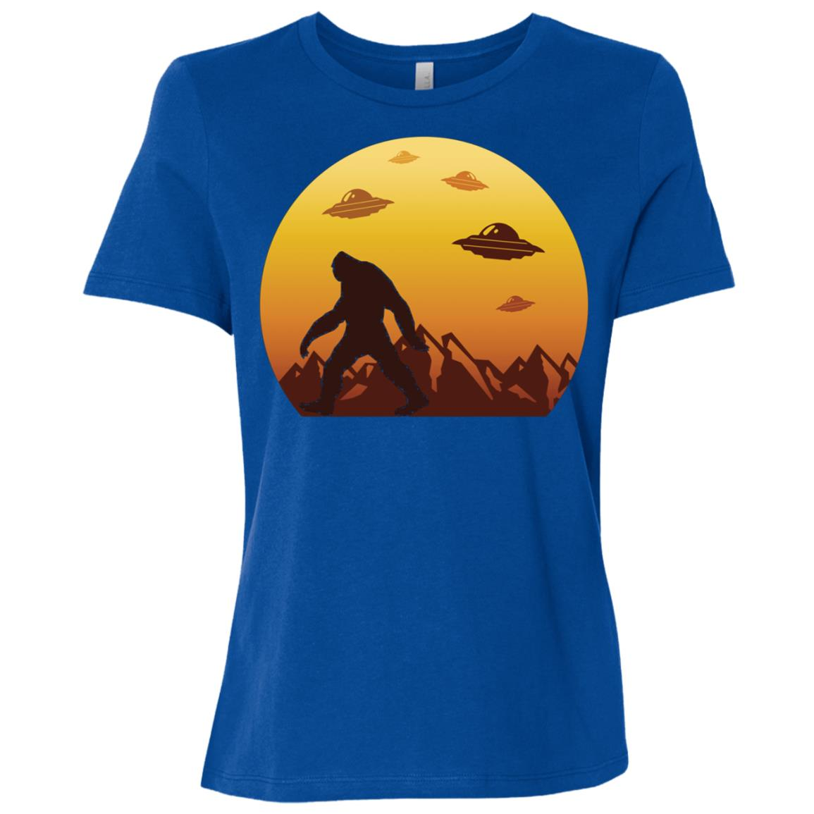 Alien Bigfoot Sasquatch Women Short Sleeve T-Shirt