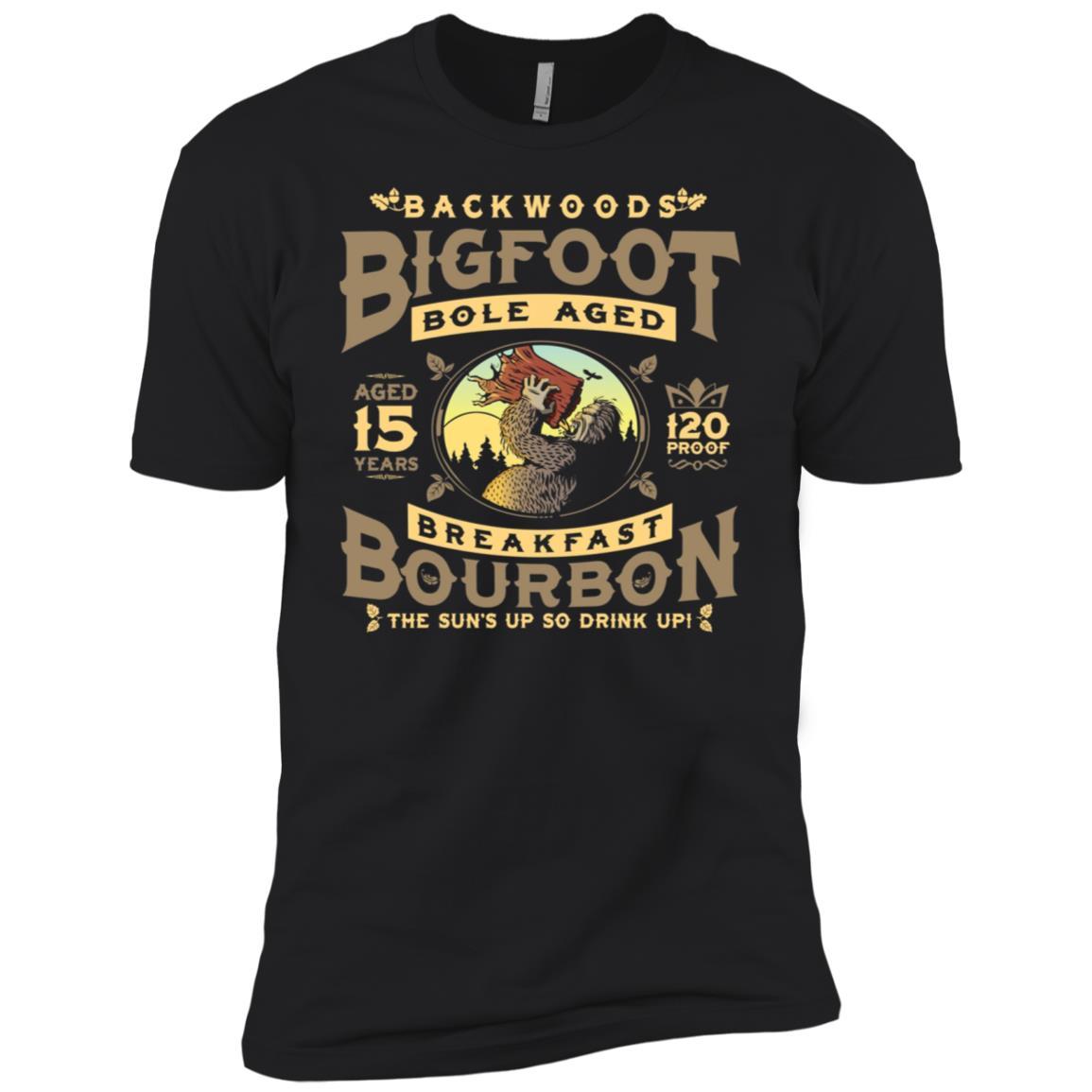 Backwoods Bigfoot Bole Aged Breakfast Bourbon Men Short Sleeve T-Shirt