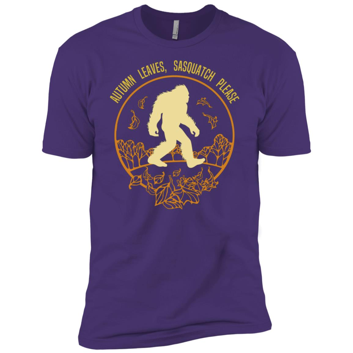 Autumn Sasquatch , Fall Leaves Gift Men Short Sleeve T-Shirt
