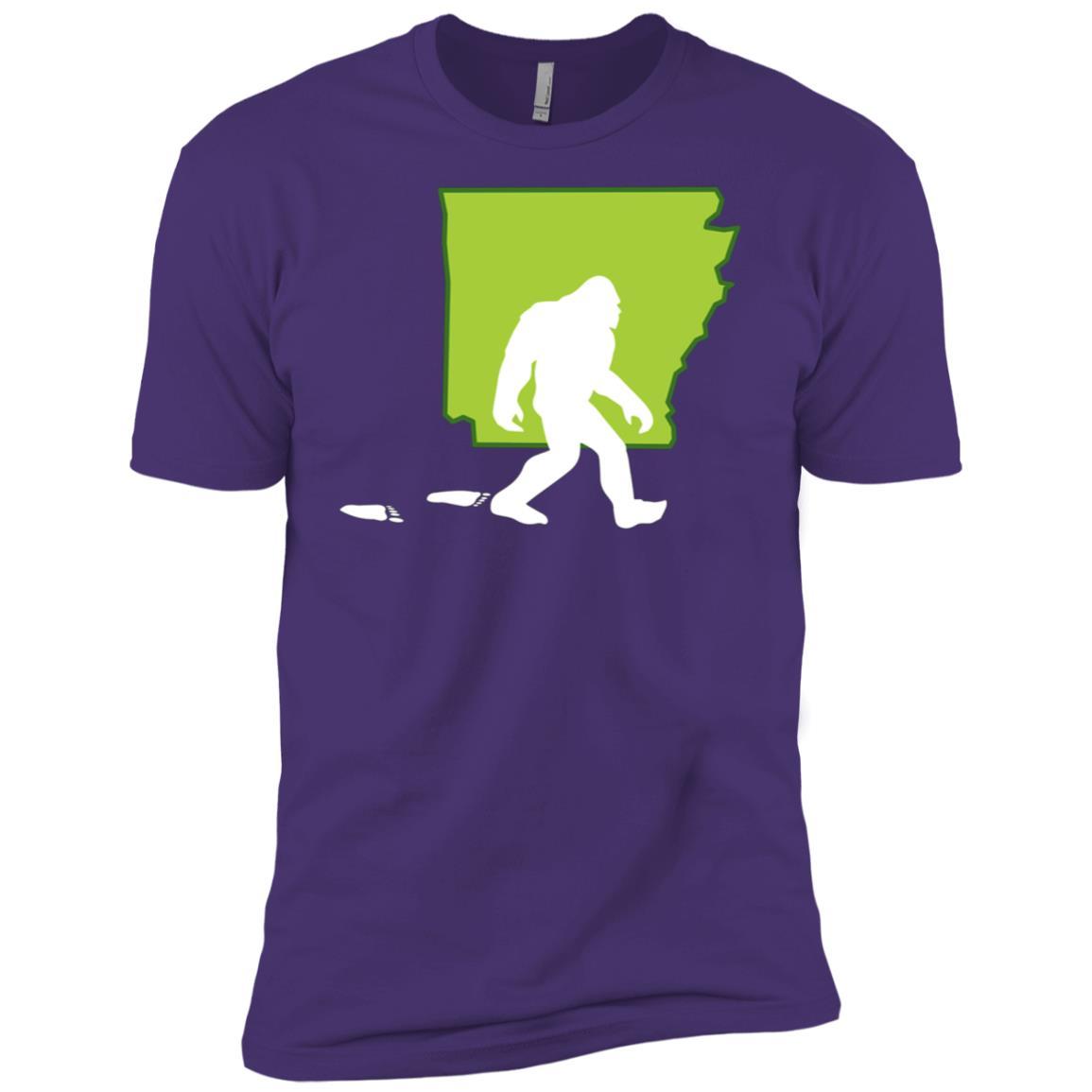 Arkansas State Bigfoot Hunter Men Short Sleeve T-Shirt