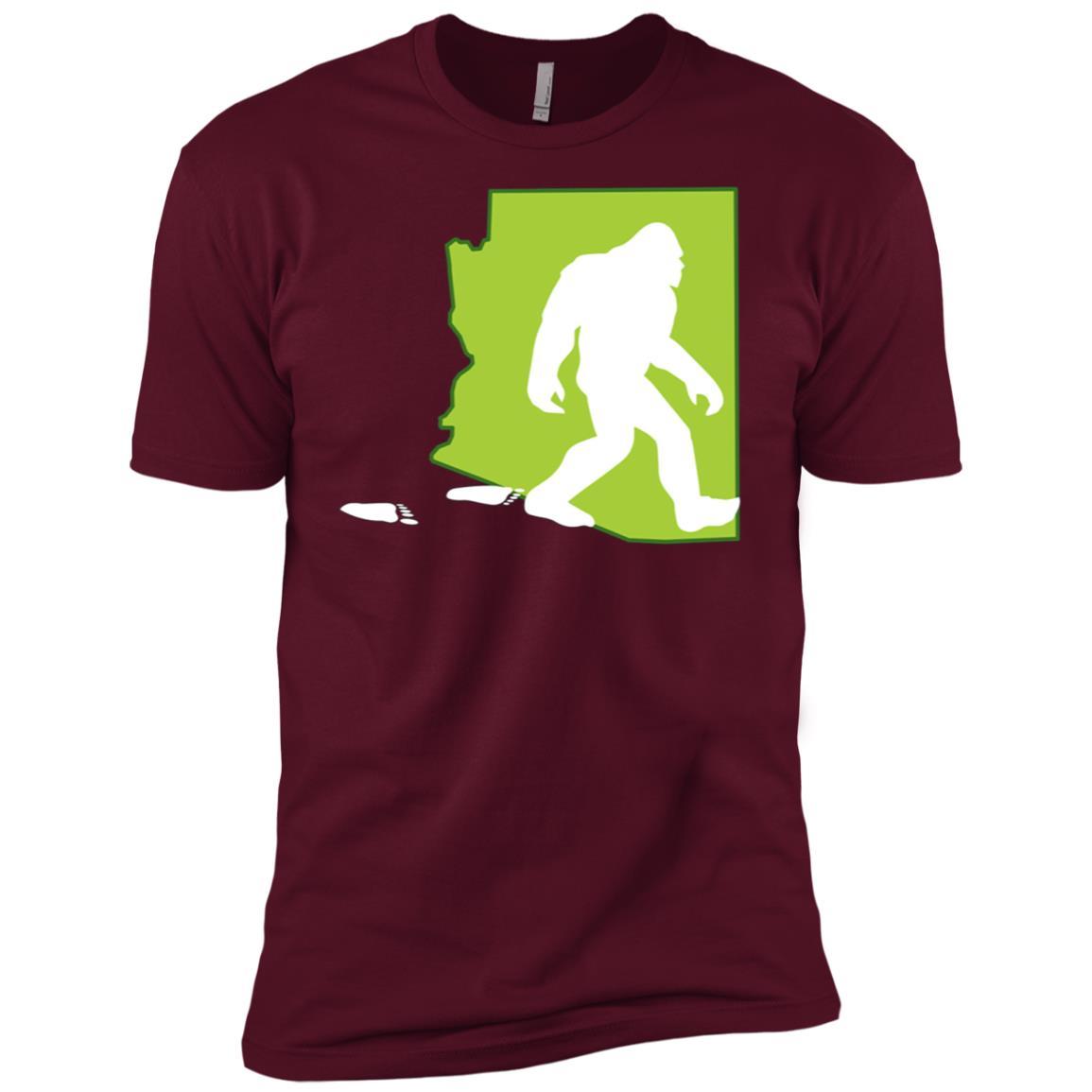 Arizona State Bigfoot Hunter Men Short Sleeve T-Shirt
