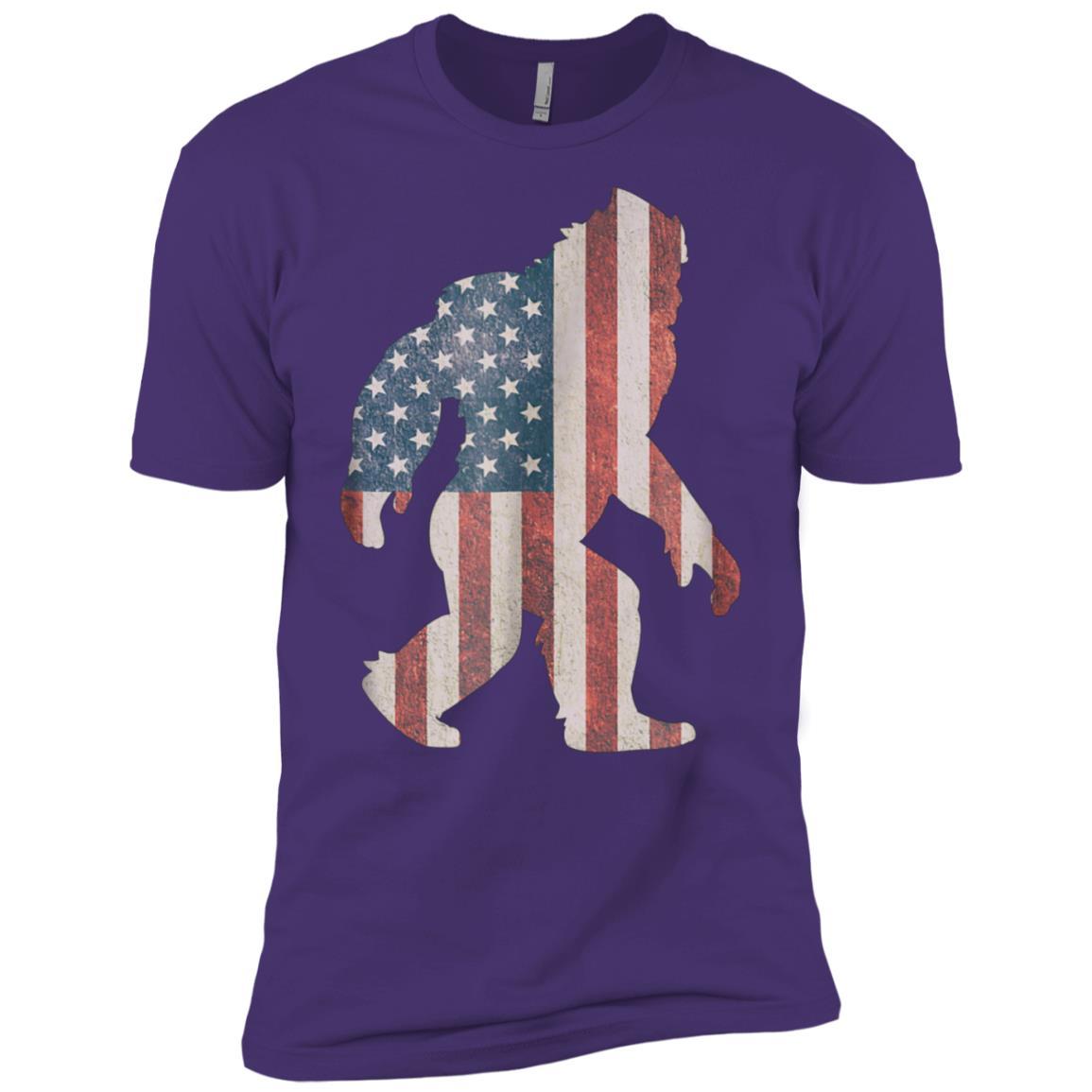 American Flag 4th Of July Bigfoot Men Short Sleeve T-Shirt
