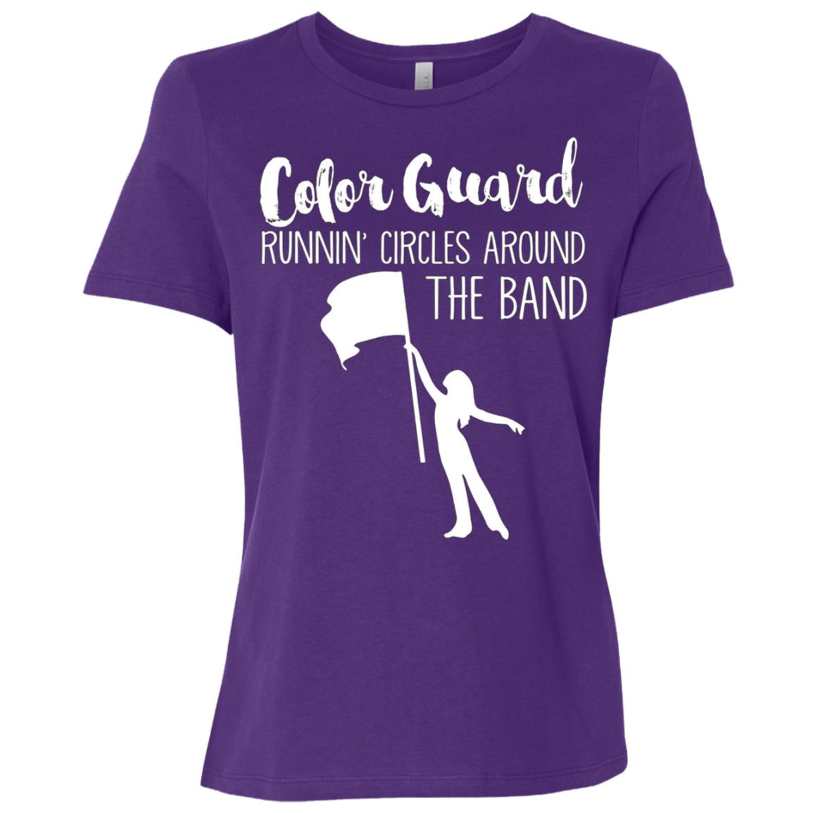 COLOR GUARD RUNNING AROUND BAND, Funny ColorGuard Women Short Sleeve T-Shirt