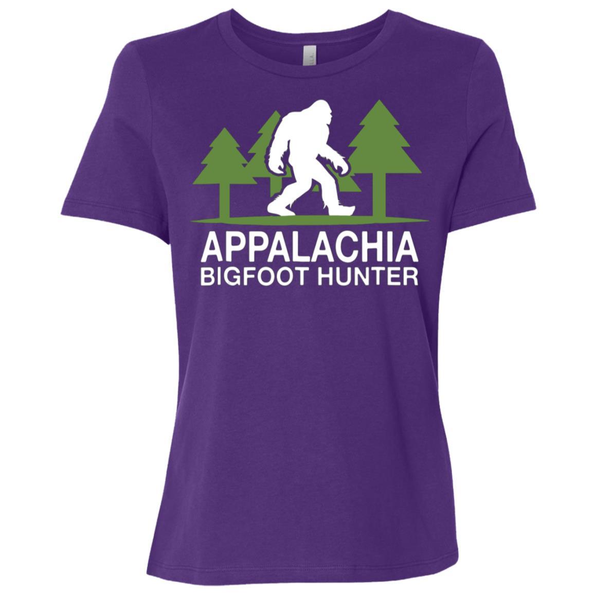 Appalachia Bigfoot Hunter Funny Sasquatch Women Short Sleeve T-Shirt