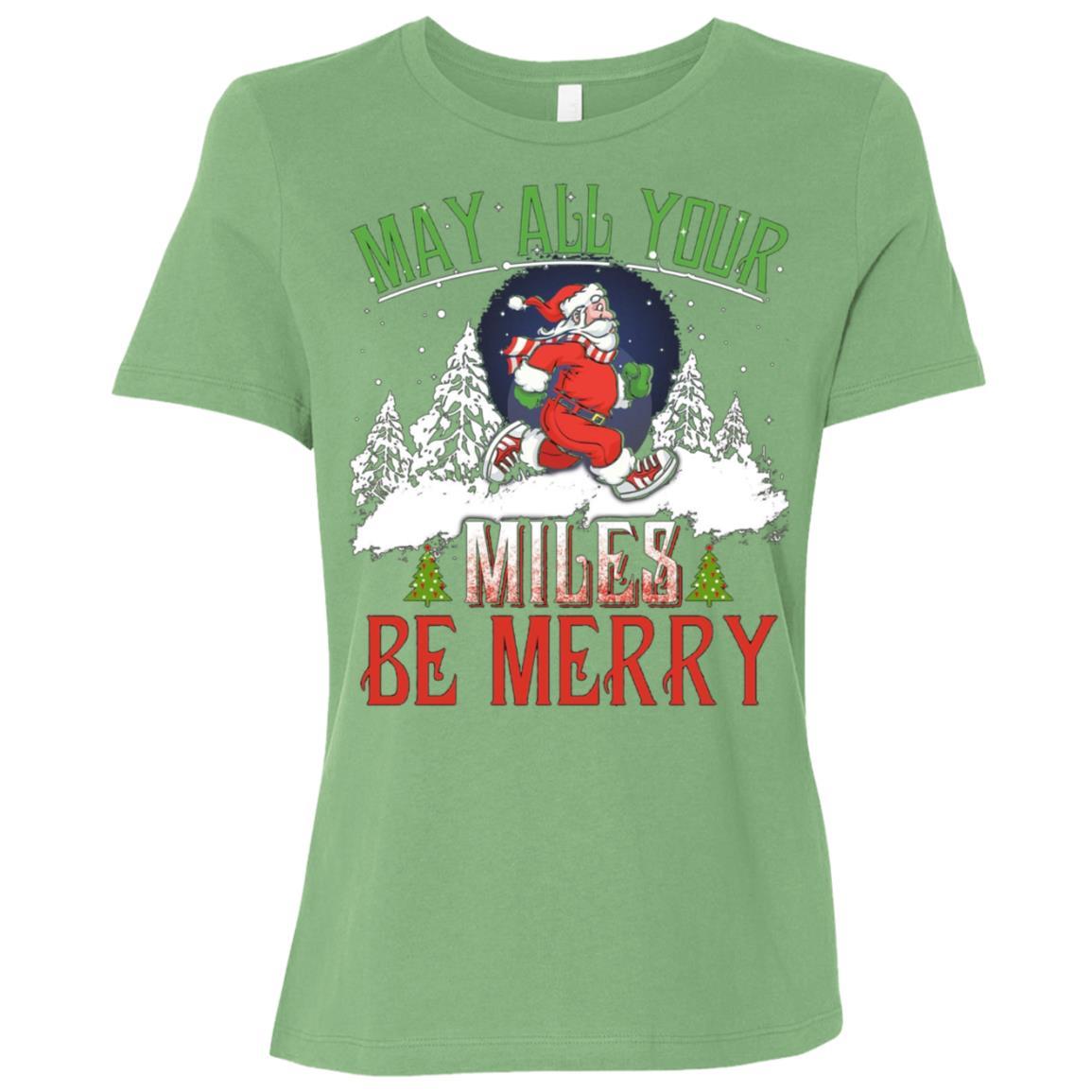 Christmas Running Womens Funny Running Gift Women Short Sleeve T-Shirt