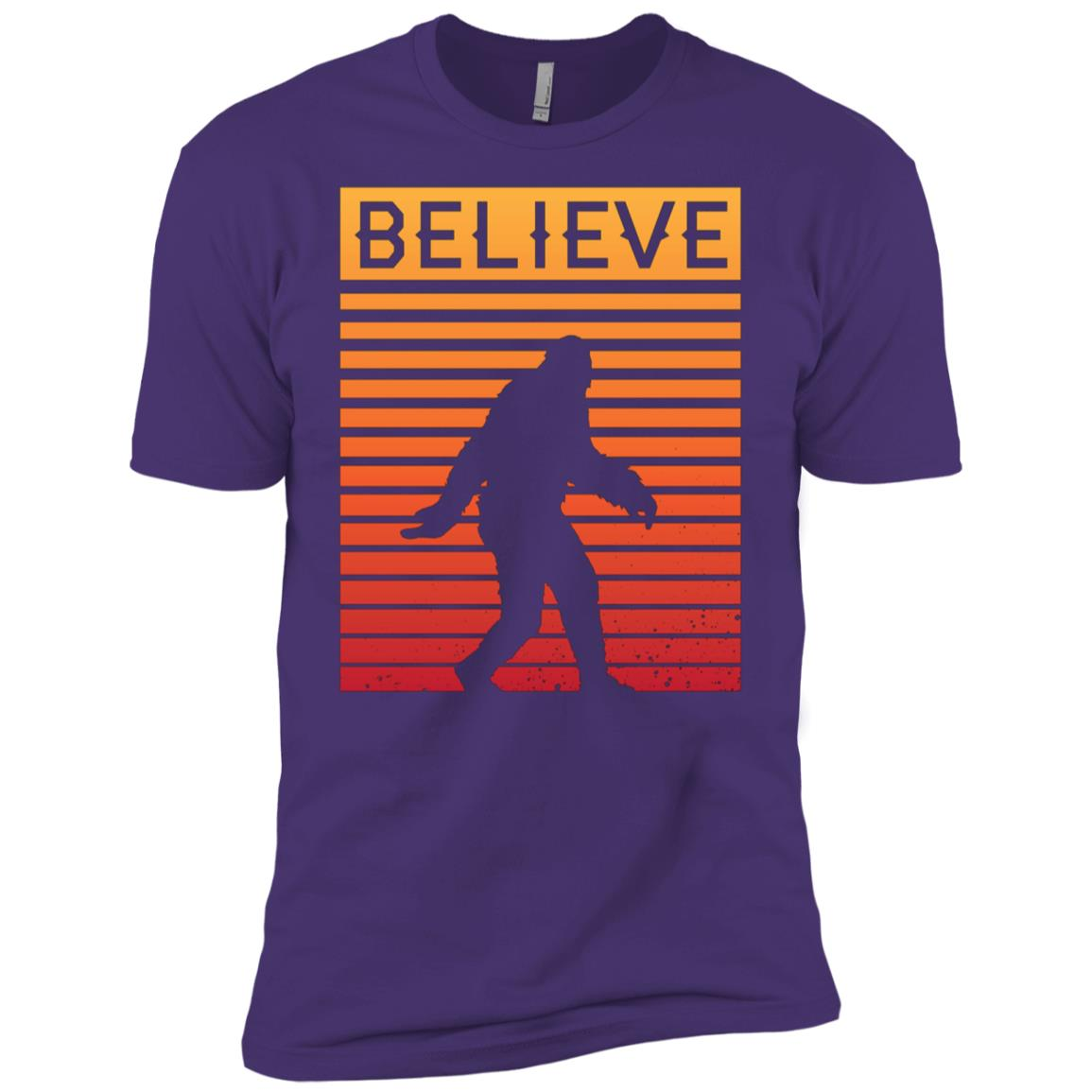 Believe In Bigfoot Retro Vintage Gift Men Short Sleeve T-Shirt