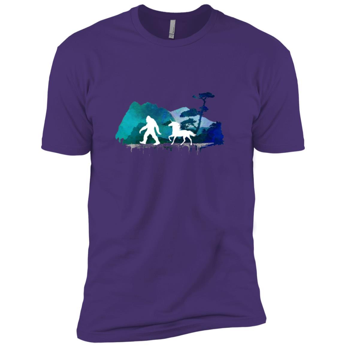 Believe Bigfoot Unicorn Men Short Sleeve T-Shirt