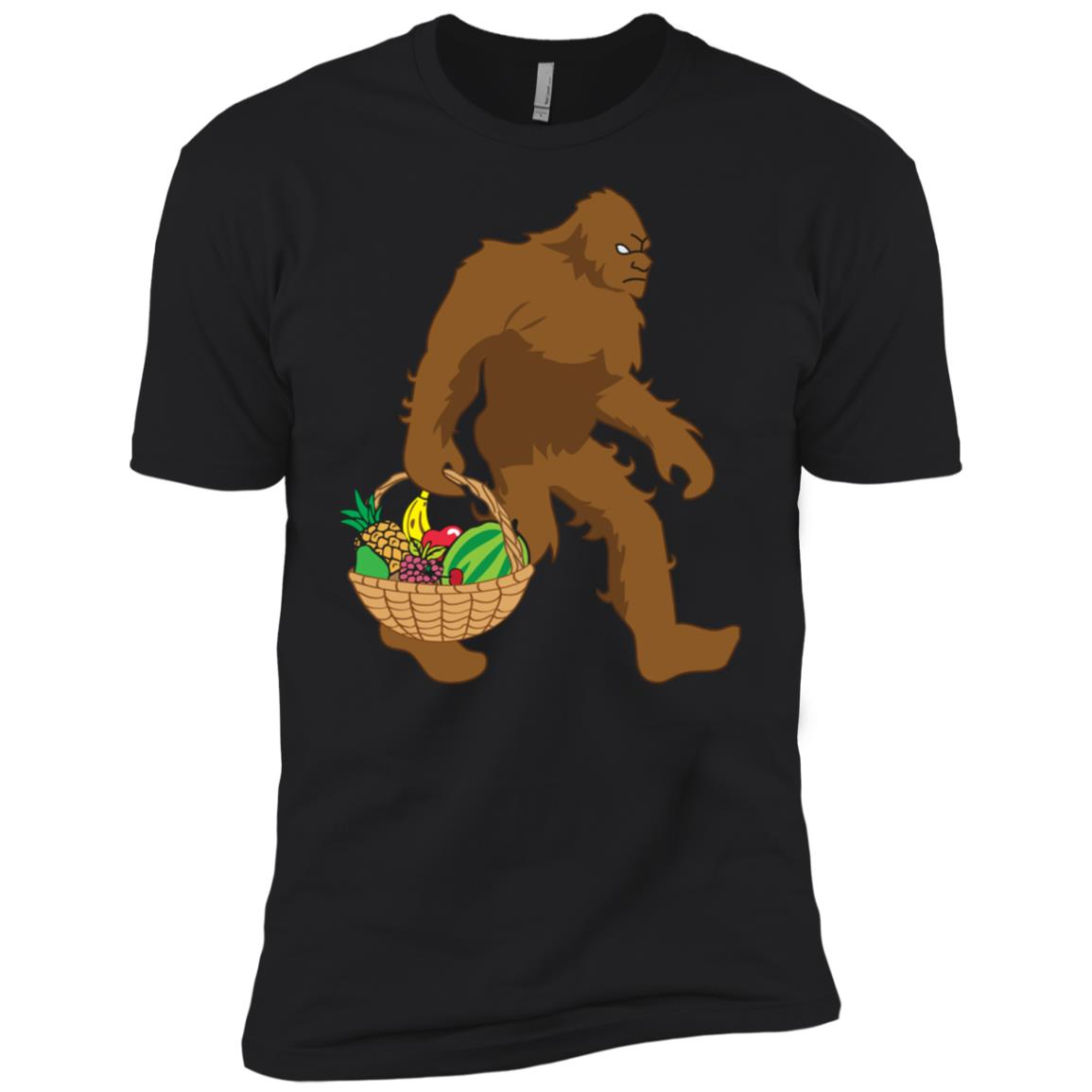 Believe Bigfoot Carrying Fruit Tee Men Short Sleeve T-Shirt